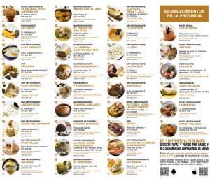 Restaurantes participantes en la Ruta Dorada de la Trufa Negra de Soria